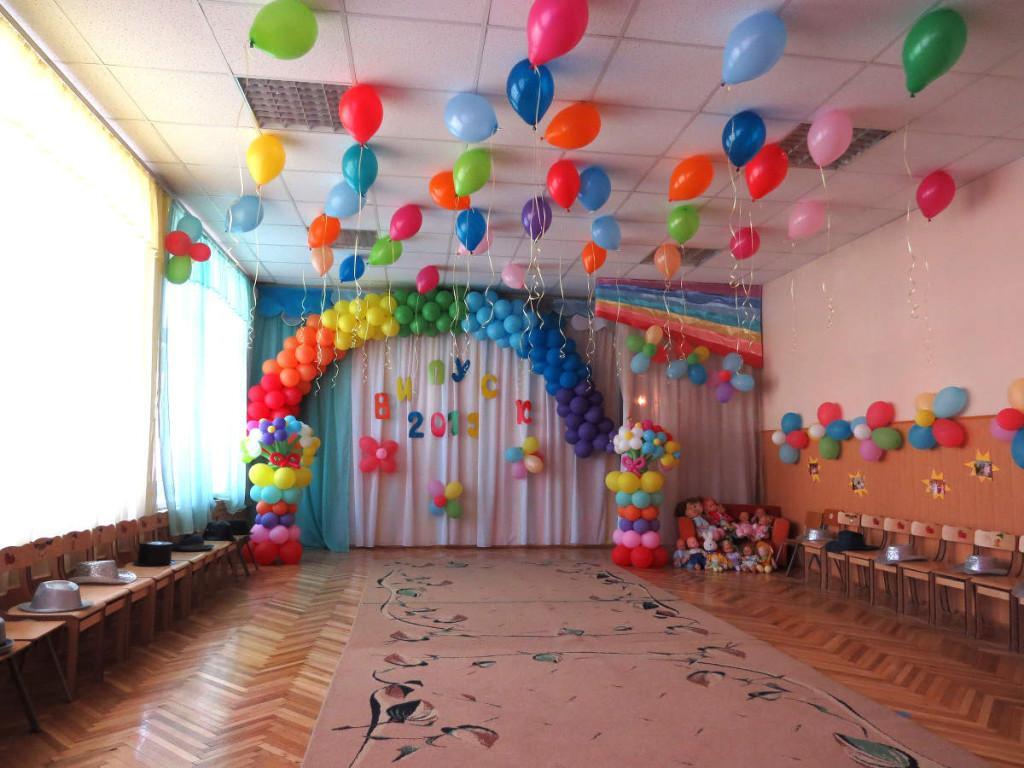 Украшение помещения воздушными шарами