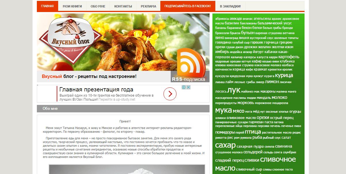 Вкусный блог рецепты с фото