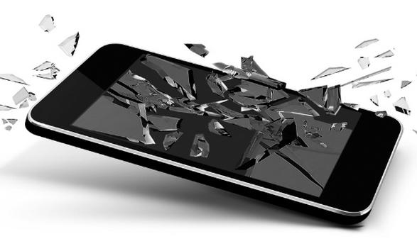 Смартфон разбился