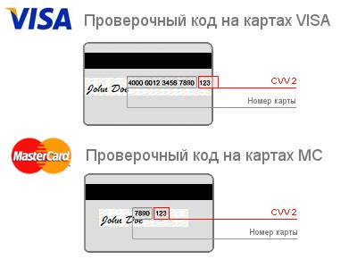 CVV на  VISA и MasterCard Сбербанк